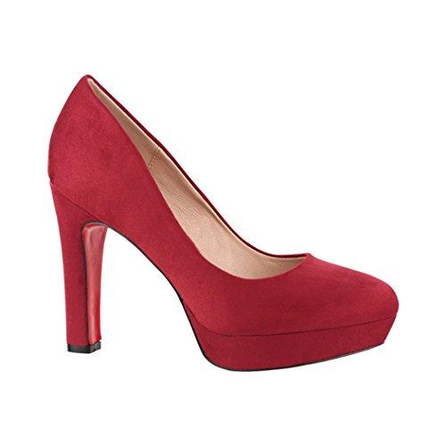 Elara con Cinturino Alla Caviglia Donna rosso bordeaux