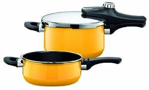 silit 2120258735 schnellkochtopf sicomatic econtrol duo 4 5 und 3 liter crazy yellow. Black Bedroom Furniture Sets. Home Design Ideas