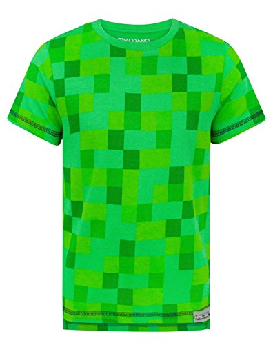 Marokko Noisy Sauce Minecraft All Over Creeper Boy's T-Shirt (5-6 Years)