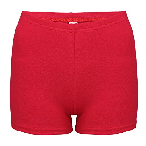 Alkato Damen Shorts Hotpants Blickdicht Stretch, Farbe: Rot, Größe: 38