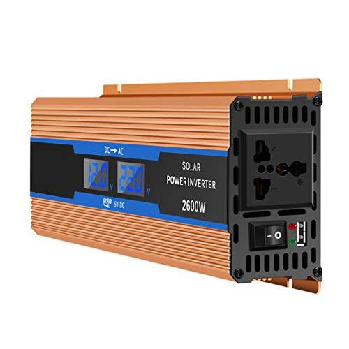 XMAGG 2600W Reiner Sinus Spannungswandler Wechselrichter 12V auf 230V Konverter Pure Sine Power Inverter mit USB-Ladeanschluss und Direktanschluss an Autobatterie,12V 1500w Power Inverter