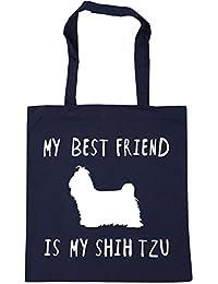15bef0e22 HippoWarehouse My best friend is my shih tzu dog Tote Shopping Gym Beach Bag  42cm x38cm