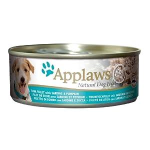 Applaws Dog Food Tuna Fillet with Sardine & Pumpkin 24 x 156g 3744g from Applaws