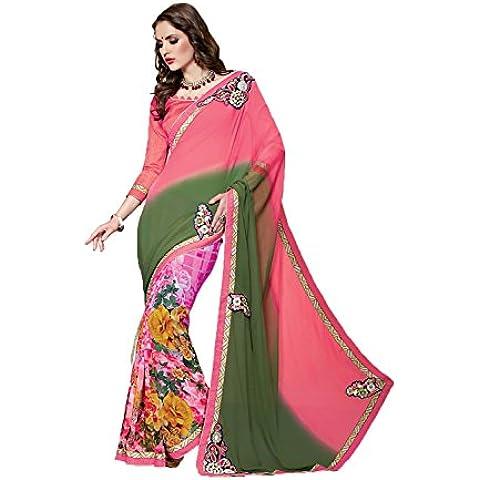 DaFacioun Indian Women Designer Party wear Multi Saree Sari