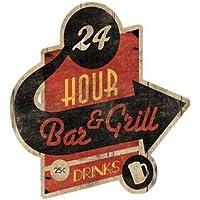 bar grill cut-out di grigio, disponibile Jace–Stampa artistica su tela e carta, Tela, SMALL (12.5 x 16.5 Inches