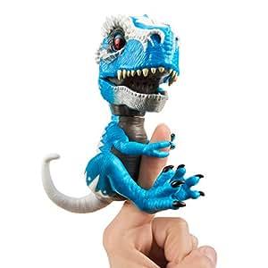 """WowWee 3785""""TRex Iron Jaw Fingerlings Untamed Toy, Blue"""