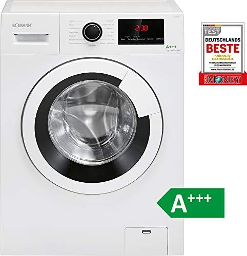 Bomann WA 7170 Waschmaschine / 164 kWh/Jahr/LED-Display / 7 kg Fassungsvermögen/weiß