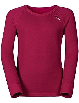 Odlo 10459 - Maglia a maniche lunghe bambino, colore Rosa (Sangria), taglia 140