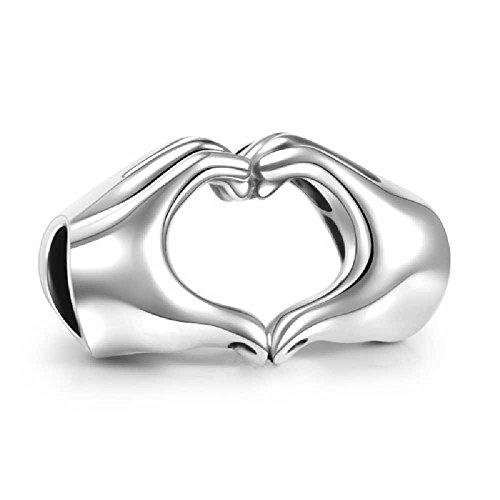 Soufeel-925-Sterling-Silber-Finger-Herz-Damen-Beads-Charms