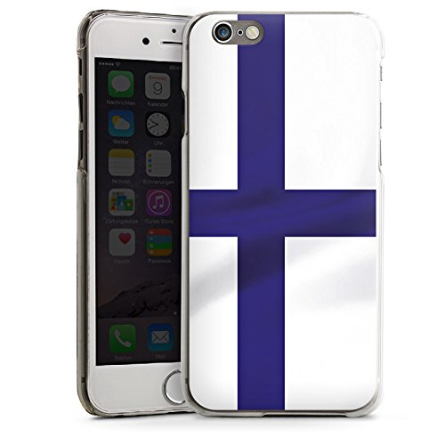 Apple iPhone 5s Housse étui coque protection Finlande Drapeau Drapeau CasDur transparent