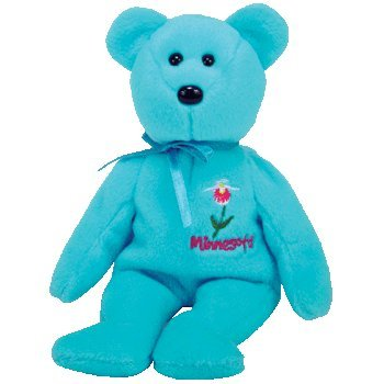 1 X TY Beanie Baby - MINNESOTA LADY'S SLIPPER the Bear (Show Exclusive) by BabyCentre -