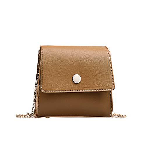 Ears Frauen Lässige Messenger Bag Kleine Crossbody Tasche Outdoor Handtasche Kette Paket Rucksack Vielseitige Umhängetasche Kette Einfache Umhängetasche Mode kleine quadratische Tasche -