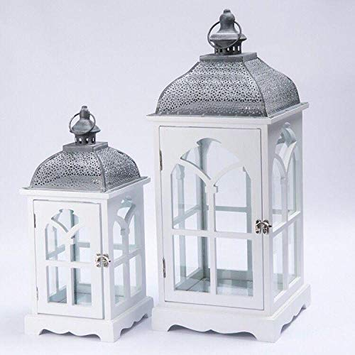 YXSHHHL 2ps Retro Holz Wind Lampe kerzenhalter Dekoration handgemachte schmiedeeisen Dekoration Garten -