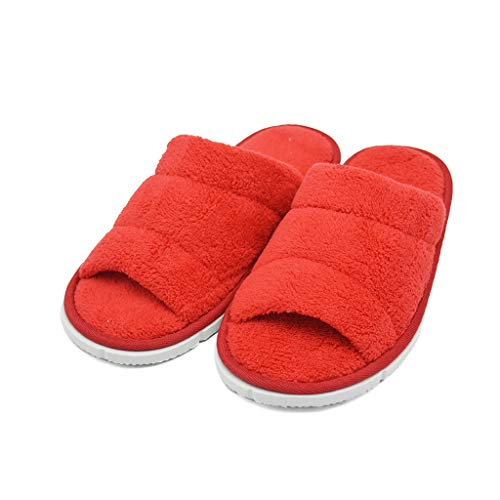 af012dab52fa Women s Open Toe Coral Fleece Slipper House Spa Slippers- 10 Pairs