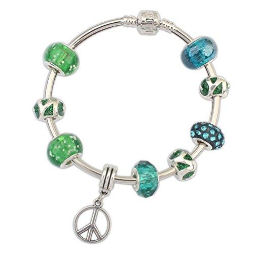 Winter 's Secret Europa Style Peace Anhänger Legierung Perlen Charming Flugzeug Armband Charakter Jewelry (Verkauf Zumba-bekleidung Von)
