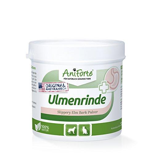 AniForte amerikanische Ulmenrinde Pulver 100 g Slippery Elm Bark Pulver - Naturprodukt für Hunde und Katzen …