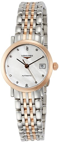 LONGINES OROLOGIO THE ELEGANT COLLECTION DIAMOND AUTOMATIC ACCIAIO BICOLORE L4.309.5.87.7
