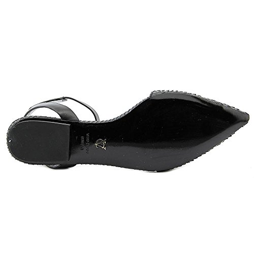 Vince Camuto Cadi Cuir Chaussure Plate Black