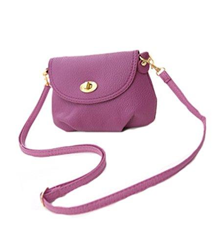 aimerfeel Damen mini kleine Handtasche Crossbody Schulter Umhängetasche, lila