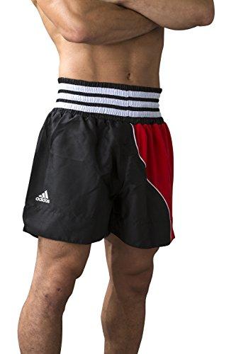 adidas Hose Kickboxen Kickboxing Shorts, Schwarz/Rot, XS, adiSTH10