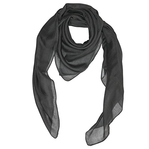Superfreak® Baumwolltuch°Tuch°Schal°100x100 cm°100% Baumwolle, Farbe grau-dunkel