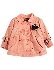DELEY Niñas de la Capa Flor de la Margarita de Impresión Turndown Collar de Zanja Chaqueta Outwear