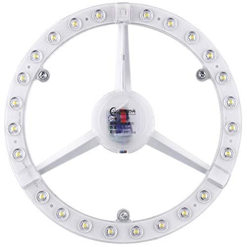 Mecha de Techo LED, Placa de lámpara de transformación Circular, Cambiar la lámpara de Anillo de la Fuente de luz, Bombilla, Placa de luz 24W Resaltar luz Blanca 6500K