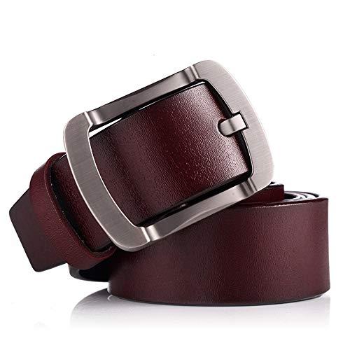 YHDD Casual Ledergürtel für Herren (Farbe : Red Brown, größe : 115cm)