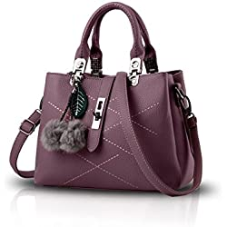 Nicole&Doris 2017 neue Welle Paket Kuriertasche Damen weiblichen Beutel Handtaschen für Frauen Handtasche(Dark red)