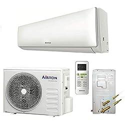 Airton Climatiseur réversible prêt à poser 3400W 12000 BTU pré-chargé en gaz R32 (PAC AIR/AIR) - vendu sans liaison Readyclim [Classe énergétique A++]