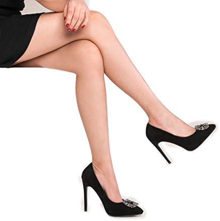 wysm Solo Zapatos 11 cm de Tacón bajo la Boca Exfoliante Femenino Rhinestone Femenino Tacones Acentuados Zapatos...
