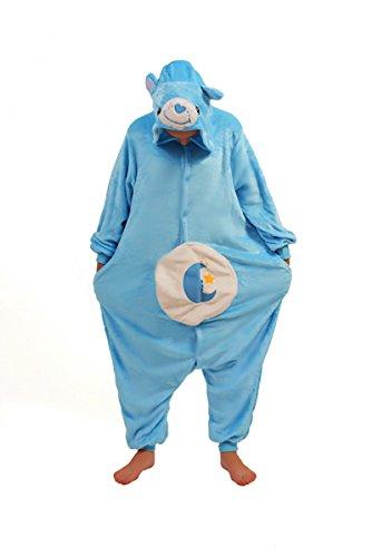 Care Bears onesiee Kigurumi Pyjama Karneval Kostüm Maskenkostüm Kapuzenpulli Schlafanzüge Bedtime Bear, XL(Height 180cm-190cm) ()