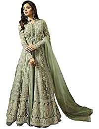 2b44edeb3d MONIKA SILK MILL Women s Net Embroidered Anarkali Salwar Suit Salwar Suit  Materials (MSMLT1706 N