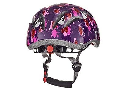 Tuzii Pyxis Skulls & Roses Girls Kids Bike Skate Scooter Adjustable Safety Helmet 47-52cm Purple by Tuzii