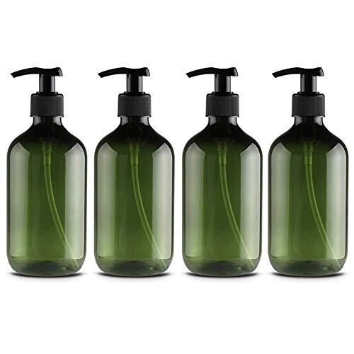 Neborn 4 Stück 500 ml Flaschen Seifenspender Pumpe Nachfüllbar für Lotionen Shampoos 500ML B - Duschgel-spender