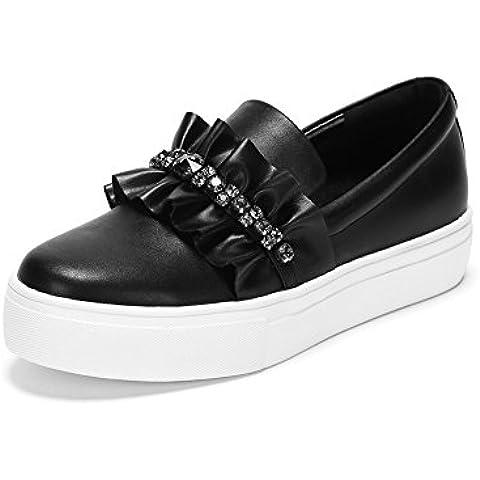 Lotus foglia ornamenti round toe fashion/ profondo fondo pesante piccola scarpa bianca/Casual scarpe da donna
