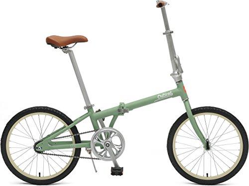 Critical Cycles Uni Judd Single-Speed with Coaster Brake Folding Bike, Matte Sage Green, One Size