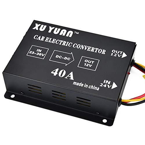 Elviray Auto 40a Buck 24V bis 12V Inverter Auto Konverter LKW Audio und Video Subwoofer Modifiziert Autozubehör (Auto-video-konverter)
