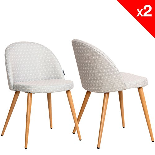 lot de 2 chaises cocktail scandinave pinkchair. Black Bedroom Furniture Sets. Home Design Ideas