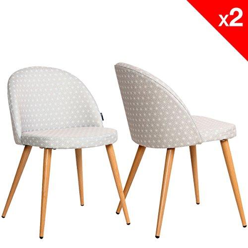 Lot de 2 chaises cocktail scandinave pinkchair - Cocktail scandinave chaise ...