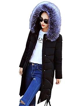FNKDOR Chaqueta para mujer de la moda de invierno Nueva larga gruesa abrigo de abrigo de algodón cálido delgado...