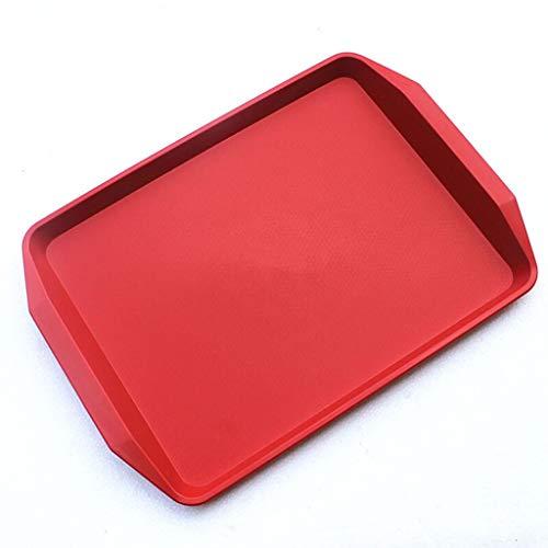 CYGJLYZ Tablett rechteckiges Kunststoff-Tablett Tee-Tablett Tee-Tablett Obst-Tablett Fast-Food-Tablett mit Ohr-Tablett Farbverdickung Tablett (Size : 45 * 32cm) -
