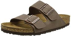 Birkenstock Arizona, Unisex-adults' Sandals, Brown (Mocca), 7.5 Uk Slim (41 Eu)