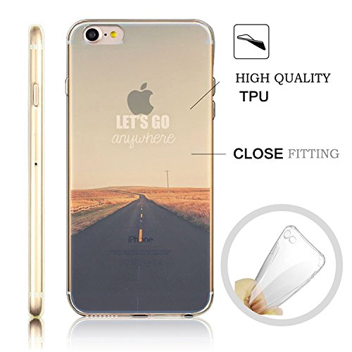 iPhone 7 Transparente Case Cover,MingKun Ultra MinceTransparente Soft TPU Silicone Clair Transparente Case iPhone 7 4.7 pouces Cover pour iPhone 7 4.7 pouces Clair Étui Housse Ananas Peinture Série Pr paysage-3