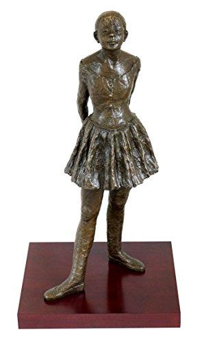 Edgar Degas - Vierzehnjährige Tänzerin - Bronzefigur auf Holzsockel - signiert - Kleine vierzehnjährige Tänzerin Skulptur