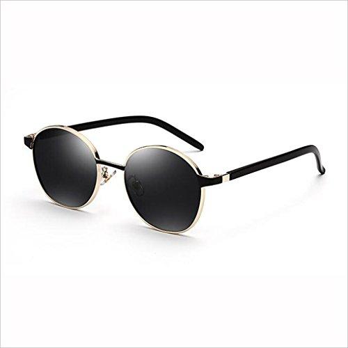 QZ HOME Sonnenbrille weiblicher Hipster Retro Harajuku-Art-kleines Gesichts-Straßen-Schlag-runde Gläser (Farbe : 3)