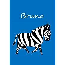 individualisiertes Malbuch / Notizbuch / Tagebuch - Bruno: Zebra - A4 - blanko