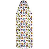 TidyHomz 100% Cotton Ironing Board Cover with Felt -Iron Design(Medium)