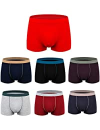 Snone Lot de 7 Boxers pour Homme Caleçons sous vêtements Boxer Shorts Coton  Slips Pieds Plats 3D Aucune Trace Sexy Grande Taille… a4a08de50da