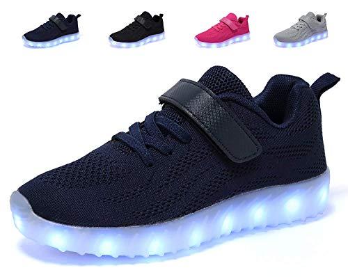 adituob Kinder LED Schuhe - Licht Auf Casual Schuhen Mode Atmungsaktives Mesh Blinkende Turnschuhe Ausbilder Outdoor Schuhe Für Die Jungen Mädchen